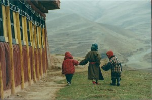 2001 China Aba kid extending hand