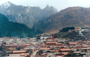 2001 China Aba town and mountains