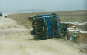 2001 Guizhou to Aba road Truck overturned