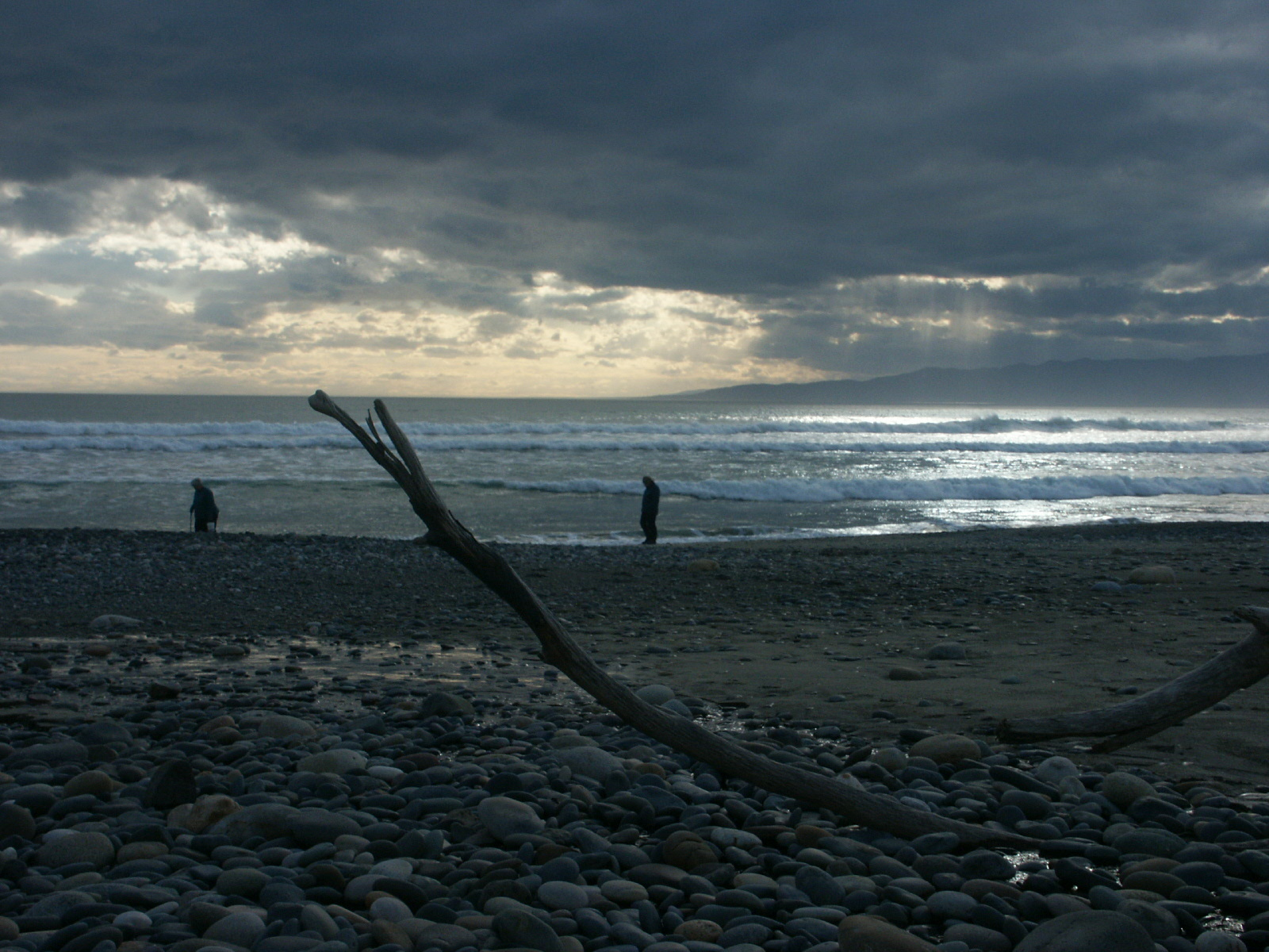 New Zealand stoney beach